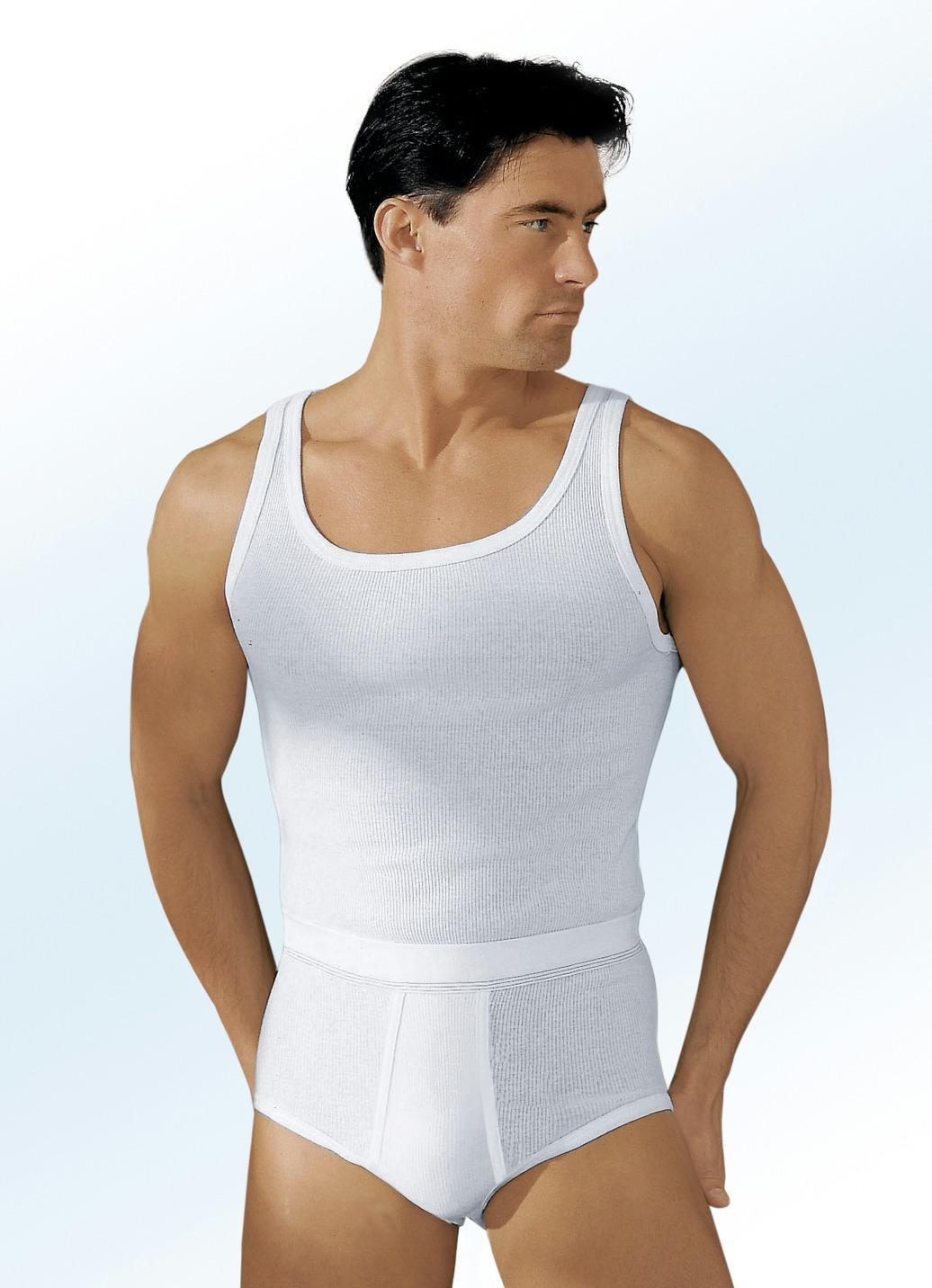 hermko mehrfachpack slips aus doppelripp mit eingriff wei unterw sche bader. Black Bedroom Furniture Sets. Home Design Ideas