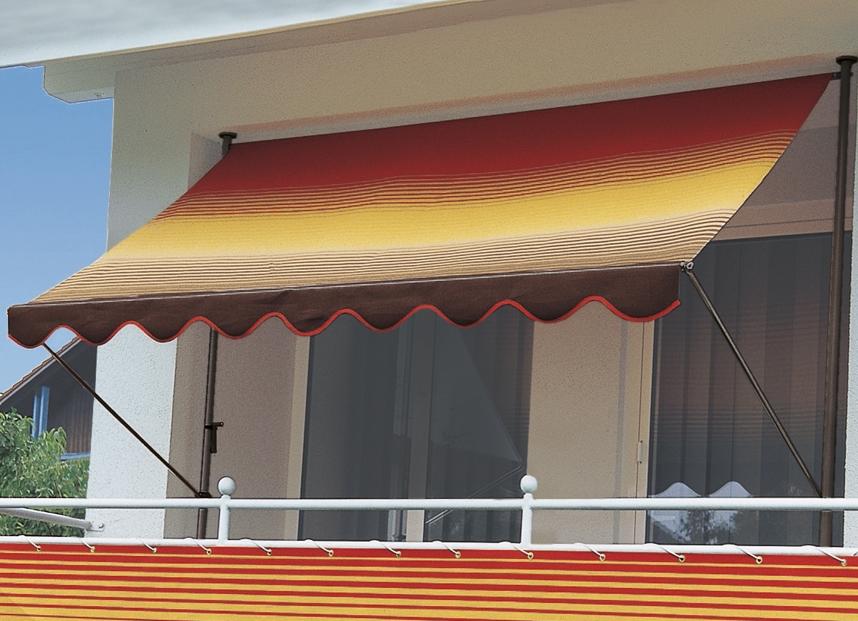 Klemm markise mit innenliegendem kettenantrieb for Markise balkon mit tapeten von hammer