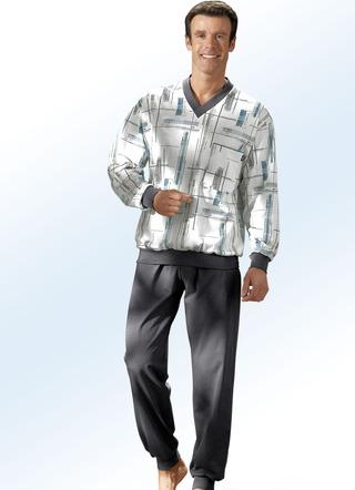 pyjama in 2 farben mit v ausschnitt und b ndchen. Black Bedroom Furniture Sets. Home Design Ideas