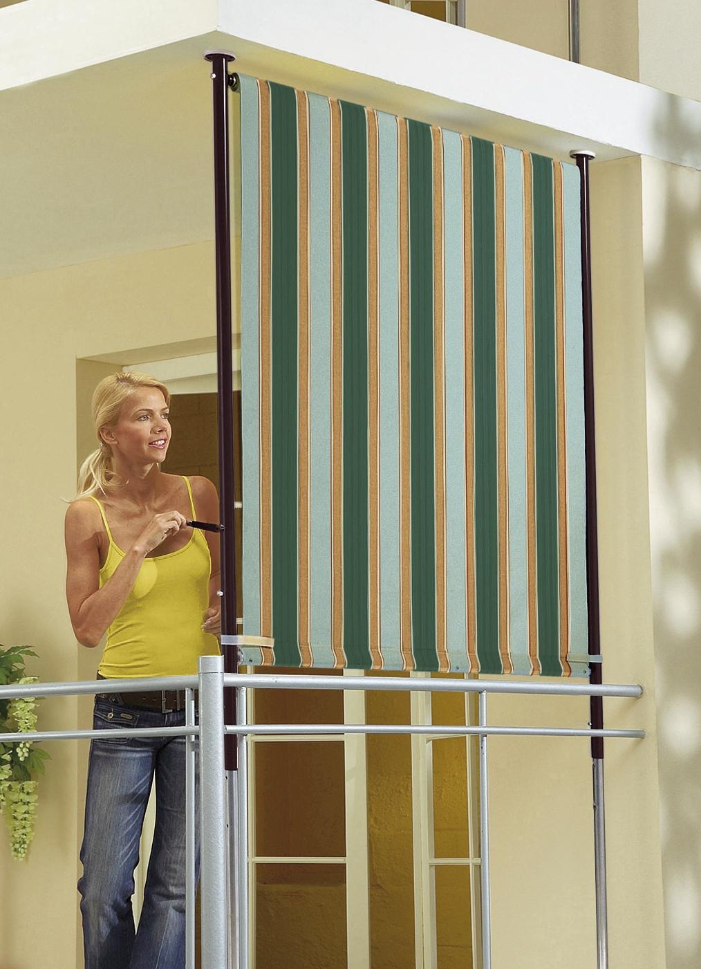 balkon seitensichtschutz sichtschutz und sonnenschutz bader. Black Bedroom Furniture Sets. Home Design Ideas