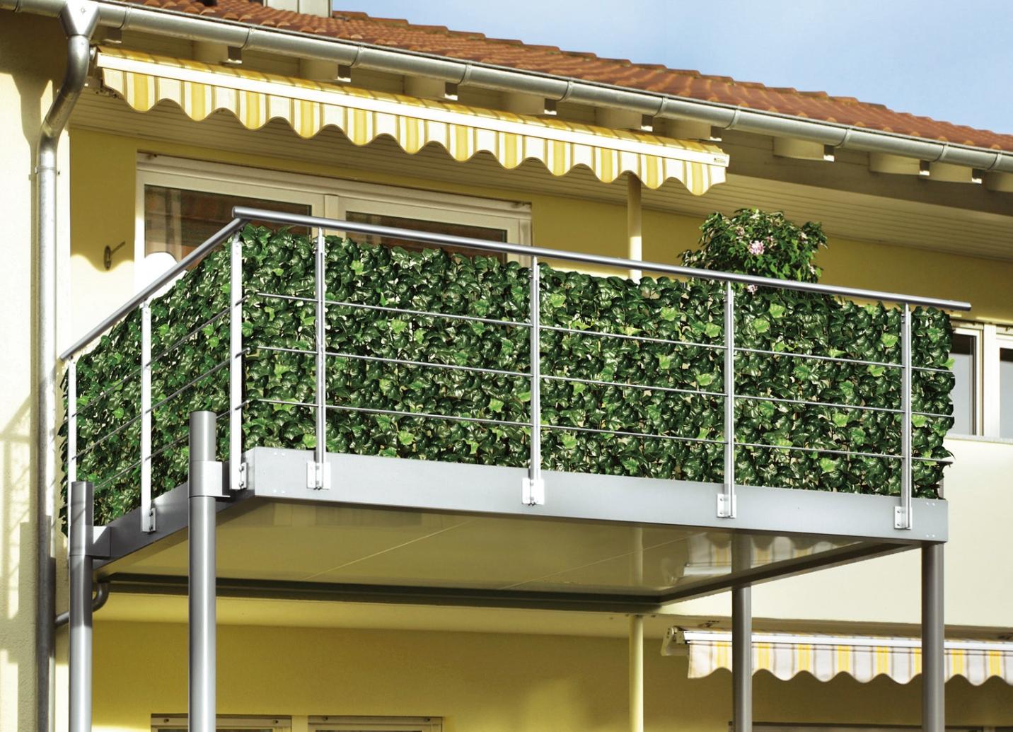Balkon Sichtschutz Pflanzen Kreative Ideen für Innendekoration