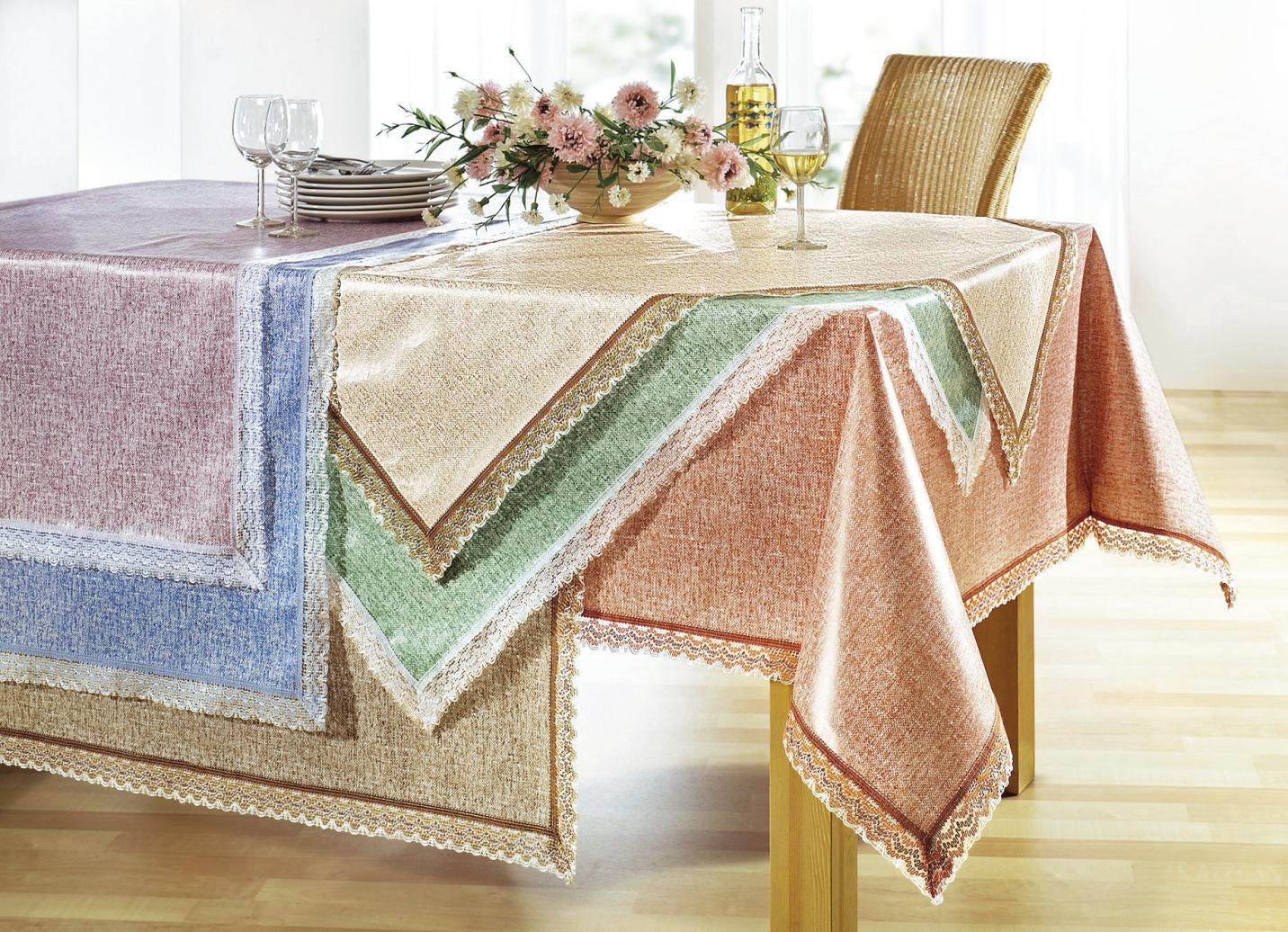 wachstuch tischdecke mit h kelborte verschiedene farben tischdecken bader. Black Bedroom Furniture Sets. Home Design Ideas