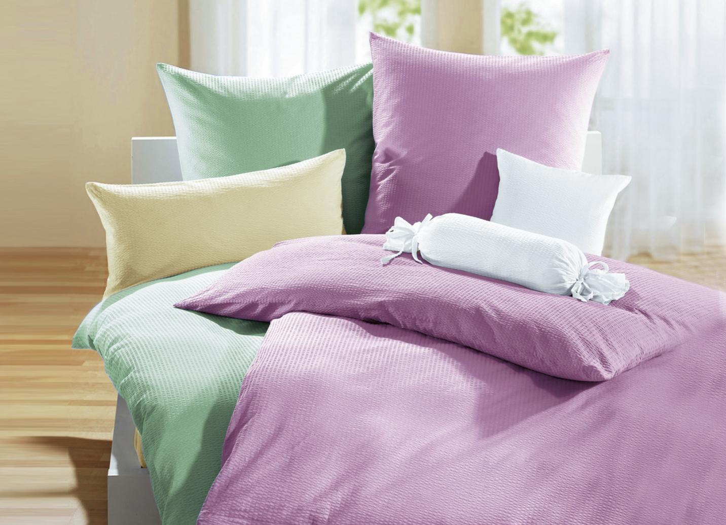 janine bettw sche garnitur in verschiedenen farben. Black Bedroom Furniture Sets. Home Design Ideas