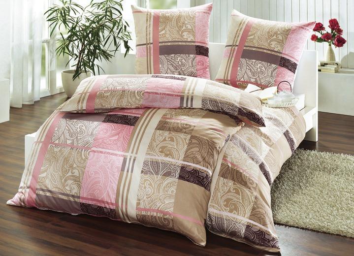 mesana bettw sche garnitur in verschiedenen farben. Black Bedroom Furniture Sets. Home Design Ideas