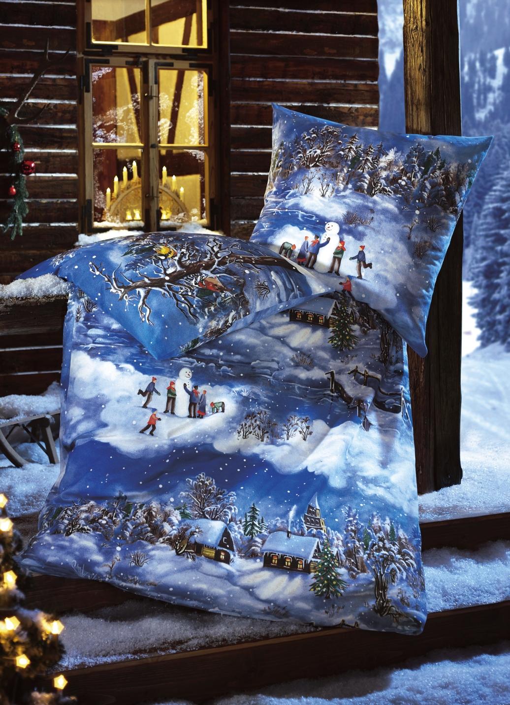 dobnig bettw sche garnitur mit wintermotiv schn ppchen. Black Bedroom Furniture Sets. Home Design Ideas