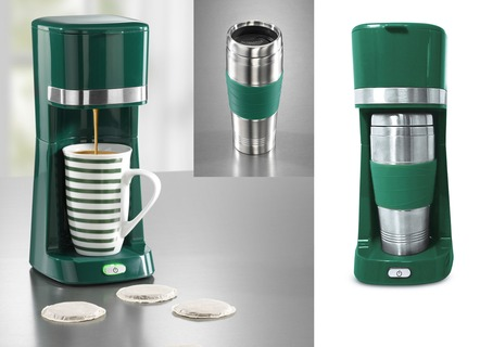«coffeemaxx» Single-Kaffeemaschine mit Keramik- und Thermobecher