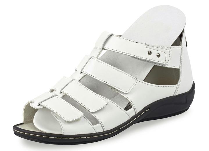 Sandaletten   Pantoletten - Riemchen-Sandalette in 5 Farben mit herausnehmbarem  Lederfussbett, Weite H 39a8c37fd0