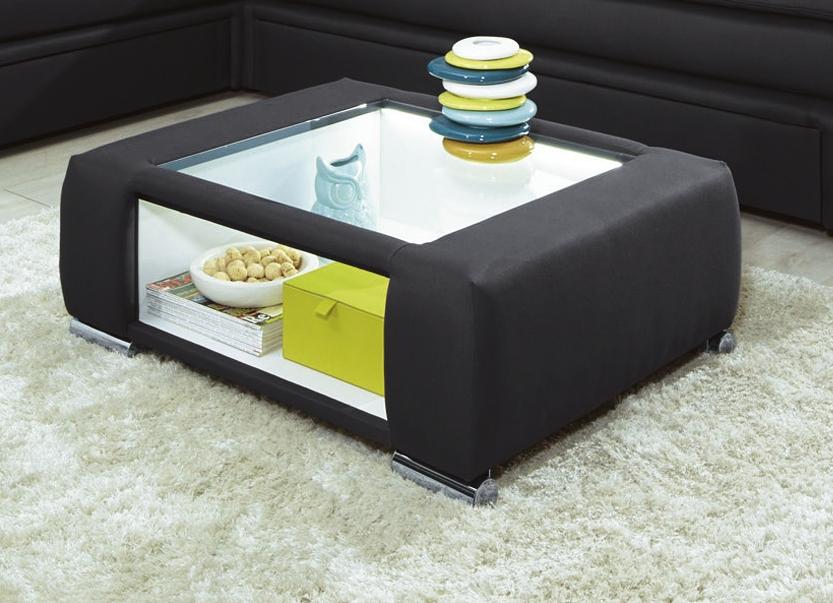 Couchtisch mit led beleuchteter glasplatte verschiedene farben tische bader - Wohnzimmertisch anthrazit ...
