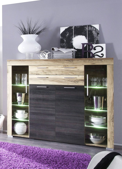 highboard mit led beleuchtung sideboards bader. Black Bedroom Furniture Sets. Home Design Ideas