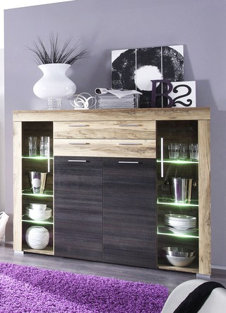 Highboard mit LED-Beleuchtung