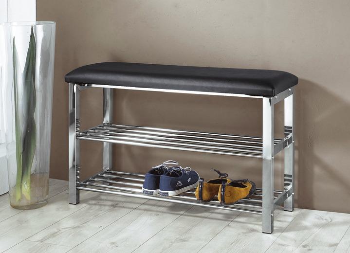 Schuhregal-Sitzbank in verschiedenen Ausführungen - Garderobenmöbel ...