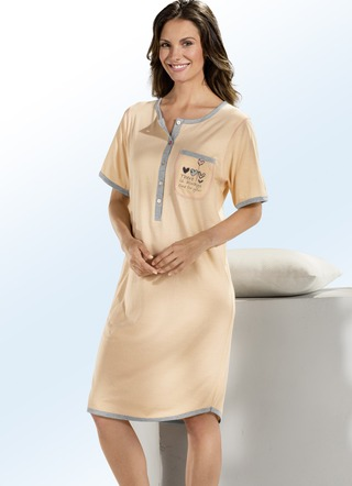 deff9f218c9681 Nachthemden Kurzarm - Nachtwäsche - Damenunterwäsche - Unterwäsche ...