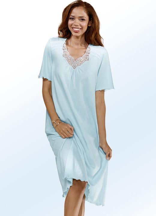 Nachthemd kurzarm mit v ausschnitt und spitze - Bader festliche kleider ...