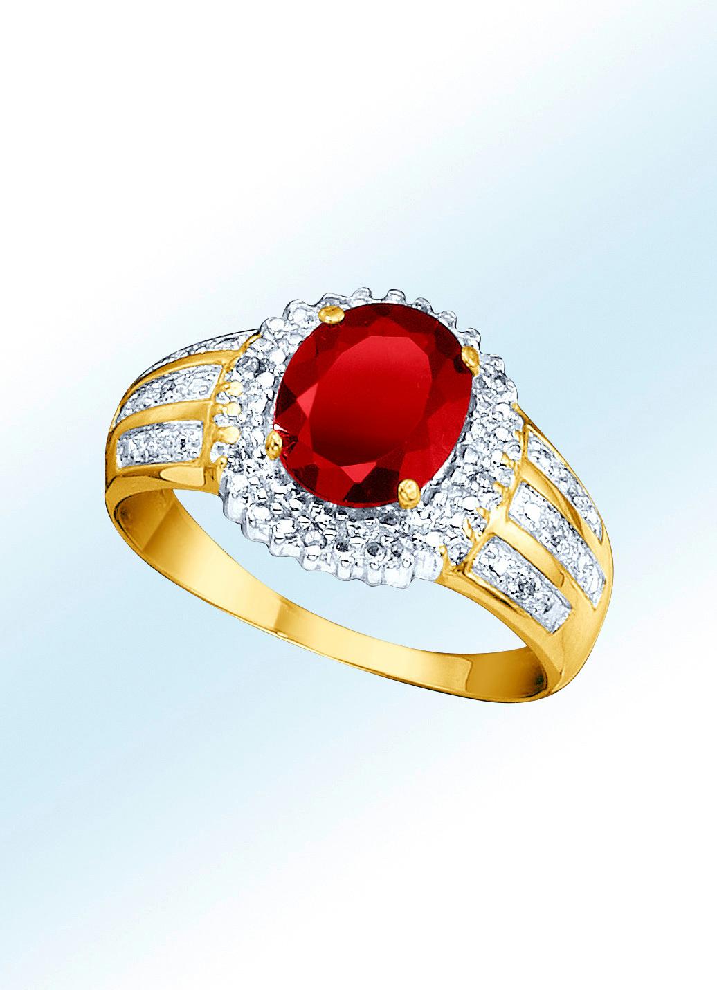 Damenring mit echtem granat und diamanten damen - Bader weihnachten ...