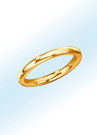 Vollmassiver Partnerring in moderner Form