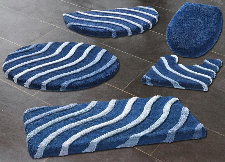 kleine wolke badteppiche mit wellen motiv verschiedene farben badgarnituren bader. Black Bedroom Furniture Sets. Home Design Ideas