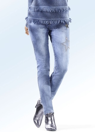 Jeans in 5-Pocket-Form in 4 Farben
