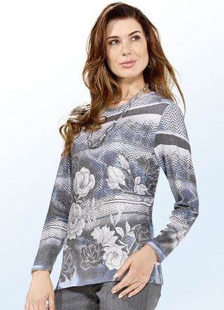 Pullover mit Alloverdruck