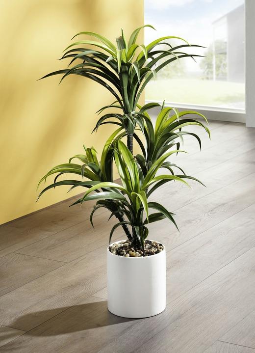 yucca palme im topf kunst textilpflanzen bader