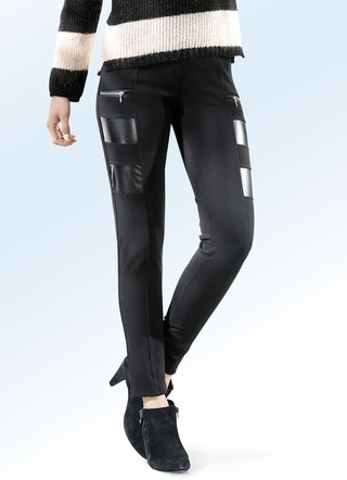 Leggings im Materialmix