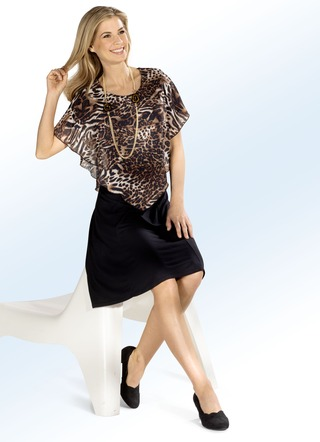 Kleid in Poncho-Optik