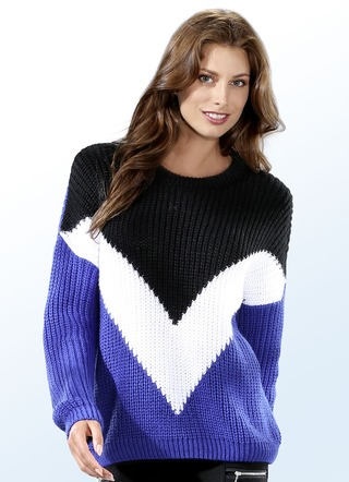 Pullover in Color-Blocking