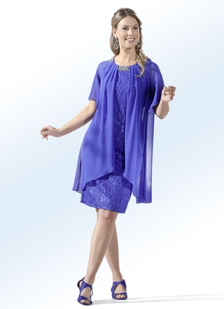 Party-Kleid in stilvoller Two-in-One-Optik