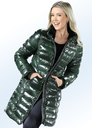 Longjacke in topaktueller Lack-Optik