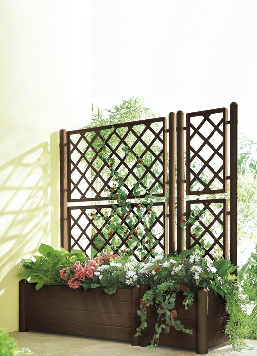 Fabulous Spalierwand mit Kasten, verschiedene Ausführungen - Blumentöpfe HZ49