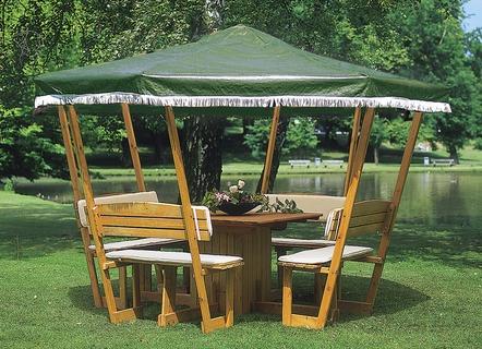 hardtop anbau pavillon in verschiedenen ausf hrungen pavillons bader. Black Bedroom Furniture Sets. Home Design Ideas