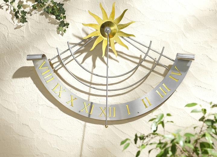 Sonnenuhr aus wetterfestem edelstahl gartendekoration for Edelstahl gartendekoration