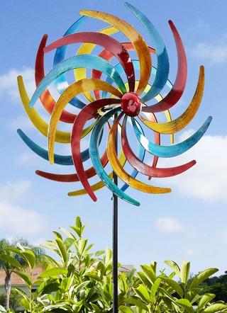 Windrad Polaris Aus Edelstahl Gartendekoration Bader