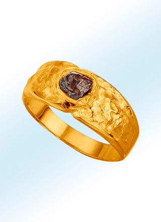 Partnerring mit 1,00 ct. Rohdiamant